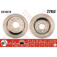 TRW DF4878 (52008184 / 52008184AB) диск тормозной