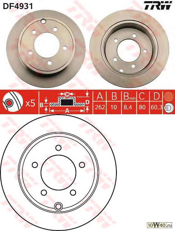 диск тормозной задний\ chrysler sebring, dodge avenger 2.0-2.7i / 2.0crd 06.07>