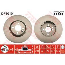 TRW DF6010 (34116774986 / 34116768933 / 34116858652) диск тормозной