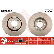 TRW DF6020S (424920 / 9467548387 / 424921) диск тормозной citroen