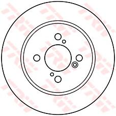 TRW DF6122 (5561168L00 / 5561158M00) диск торм. Suzuki (Сузуки) Swift (Свифт) 10> задний 1 шт (min 2 шт)