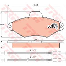 TRW GDB1101 (95667786 / 425156 / 95667785) колодки торм. Citroen (Ситроен) xantia перед.к-т
