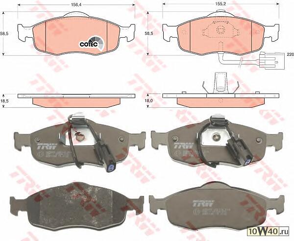 Колодки торм пер Ford Mondeo 1,6-2,0 93- с/дат