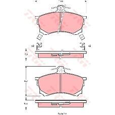 TRW GDB1197 (MR249240 / MR407944 / MR290240) колодки торм пер.Mitsubishi (Мицубиси) Carisma (Каризма) 96-00