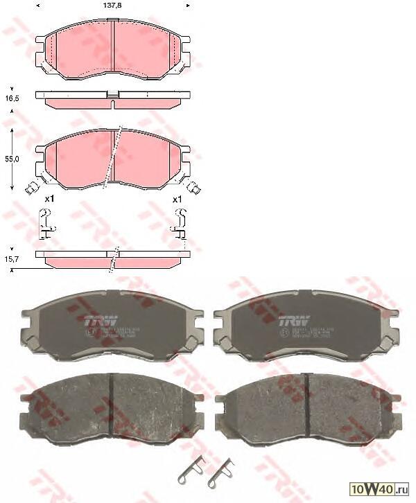 колодки тормозные дисковые | перед | chang feng motors co.,ltd liebao 1999 >>, liebao cs6 2007 >>mitsubishi l 200 1996 >>, l 300 1994 - 2000, l 400 1996 - 2005, l 400 / space gear 1995 - 2005, space gear 1995 - 2000