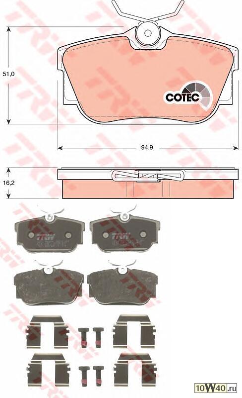 Комп дисковых тормозных колодок