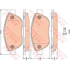 TRW GDB1750 (77362743 / 77364281 / 77364897) колодки тормозные дисковые, комплект