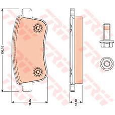 TRW GDB1791 (440603734R / 440604694R / 440601416R) колодки дисковые з.\ Renault (Рено) Megane (Меган) sedan / coupe 08>