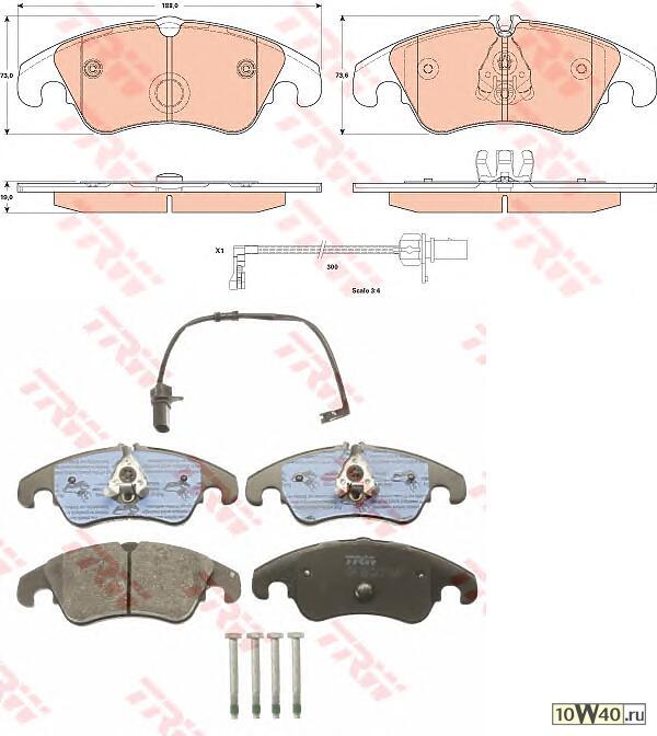 колодки дисковые передние\ audi a6 / quattro / a7 sportback 2.8fsi / 2.0tdi / 3.0tdi 10>