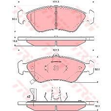TRW GDB3173 (0K9A03328Z / 0K9Y63328Z / 0K9A03328Z0K9Y63328Z) тормозные колодки дисковые