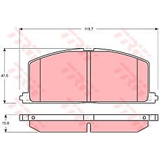 TRW GDB3184 (0446516120 / 446516120) колодки торм. Toyota (Тойота) Camry (Камри) / Corolla (Корола) 84-97 передн. к-т