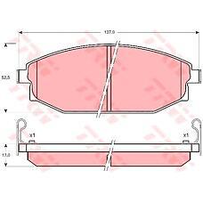 TRW GDB3232 (58101M1A00 / S2000100 / SB000100) колодки торм пер Hyundai (Хендай) Galloper (Галлопер) 98-