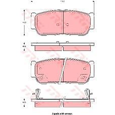 TRW GDB3413 (4841321B10 / 4841321A10) колодки торм. ssangyong rexton / rodius задние