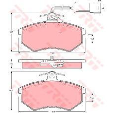 TRW GDB404 (443698151F / 443698151J / 431698151G) колодки торм пер Audi (Ауди) 80 / 100 -91 с / дат
