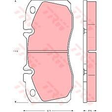 TRW GDB5068 (1906416 / 1906298 / 1906144) колодки тормозные дисковые