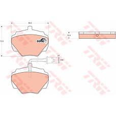TRW GDB976 (STC1276 / STC8570 / STC9189) колодки тормозные дисковые