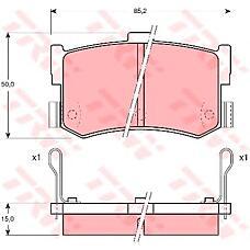 TRW GDB994 (5830234A00 / GBP90300 / 43022SG9000) [gdb994] trw колодки тормозныезадние комплект на ось