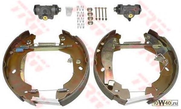Комплект задних тормозных колодок (барабанные) для форд транзит 00-06 год выпуска