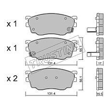 TRUSTING 310.0 (CBY43323Z / CBY43328Z / G1YC3323Z) к-т торм. колодок fr ma 626 -02, premacy -05