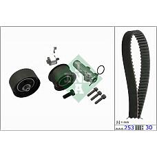 INA 530017910 (1276084A50 / 078198479 / 1276084A00) ремень грм зубчатый с роликами, комплект