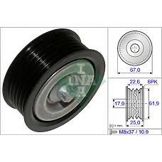 INA 532052610 (059903341A / 0002020019 / 0002020919) ролик ремня приводного mb w203 / 204 / 211 / 212 / 164 / 221 / 906 / 639 230-500 (c болтом)