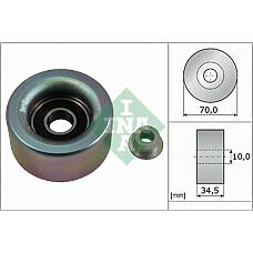INA 532 0590 10 (1660431020 / 1660431010 / A132E6261S) ролик обводной ремня но\ Toyota (Тойота) Land Cruiser (Ленд Крузер) 150 4.0 / Camry (Камри) v40 3.5 06>