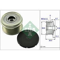 INA 535002510 (99760315400 / 99660315250) Шкив генератора PORSCHE 911/boxter