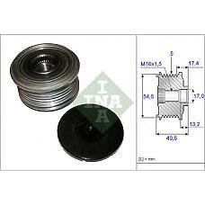 INA 535 0109 10 (8200399801) шкив генератора\ renault