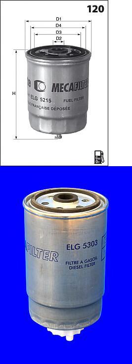 ELG5303 фильтр топливный Fiat Ducato 2.3JTD 01-02