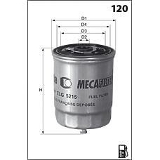 MECAFILTER ELG5303 (1337724080 / 1530811 / 7984282) фильтр топливный Fiat (Фиат) Ducato (Дукато) 2.3jtd 01-02