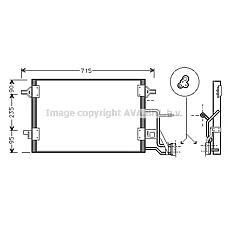AVA AI5173 (8D0260403G / 4B0260403S / 8D0260401G) радиатор кондиционера