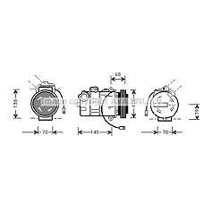 AVA QUALITY COOLING AIAK011 (8D0260805J / 8D0260808 / 8D0260805Q) компрессор кондиционера