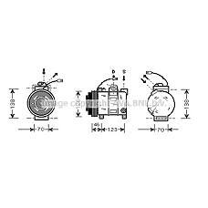 AVA QUALITY COOLING AIAK015 (4B0260805C / 4D0260805C / 4D0260808A) компрессор кондиционера Audi (Ауди) a4 / a6 / a8 98-05 2.5tdi