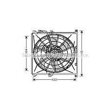 AVA BW7503 (64508372039 / 64548369800 / 8372039) вентилятор радиатора кондиционера