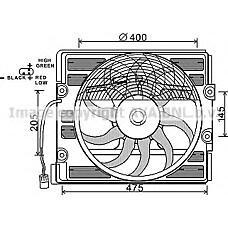 AVA QUALITY COOLING BW7512 (64548380774 / 64548391882 / 8391882) вентилятор охлаждения двигателя