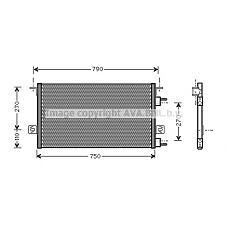 AVA QUALITY COOLING cr5037 (4682589 / 04809129AA / 05016793AA) радиатор кондиционера