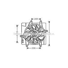 AVA QUALITY COOLING CR7505 (5017407AA / 5017407AB / 5073505AA) вентилятор охлаждения\ Chrysler (Крайслер) pt-cruiser 1.6-2.4 00-10