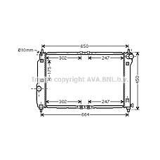 AVA QUALITY COOLING DWA2067 (96536525 / 96536669 / 96816483) радиатор Chevrolet (Шевроле) aveo 05> 1.4 мкпп / +ac