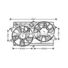 AVA QUALITY COOLING FD7507 (1075126 / 1069390 / 1072555) вентилятор охлаждения двигателя