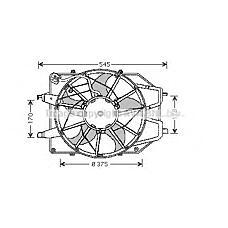 AVA QUALITY COOLING fd7509 (1075135 / 98AB8C607JG / 1061263) электро вентилятор кондиционера 80 w