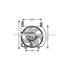 AVA FD7525 (1020914 / 1118161 / 1017785) вентилятор радиатора двигателя