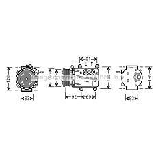 AVA QUALITY COOLING FDAK171 (1S7H19D629CC / 1367492 / 1371570) компрессор кондиционера\ Ford (Форд) Mondeo (Мондео) 1.8 16v / 1.8sci / 2.0 16v 00-07