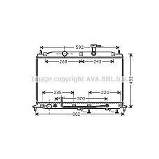 AVA HY2177 (253101E100 / 253101E101 / 253101E150) радиатор двигателя