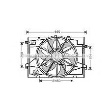 AVA QUALITY COOLING HY7520 (253802E380 / 252312E000 / 253862E250) вентилятор радиатора Hyundai (Хендай) tucson 2.7