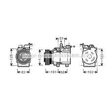 AVA HYK123 (9770126300 / 9770126200 / 9770138170) компрессор кондиционера