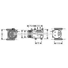 AVA QUALITY COOLING JRAK034 (XR820839) компрессор кондиционера Jaguar (Ягуар) x-type 2.0 / 2.5 / 3.0 99-08