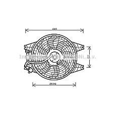 AVA COOLING SYSTEMS KA7518 (977303E000 / 977353E000 / 977363E000) вентилятор охлаждения двигателя Sorento (Соренто) all doowon '02-'06