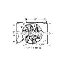 AVA QUALITY COOLING MS7501 (2025053555 / 0005401588 / 5401588) вентилятор охлаждения двигателя