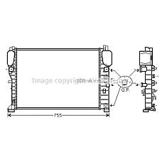 AVA MSA2394 (2115000202 / 2115003102 / 2115002302) радиатор двигателя