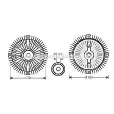 AVA QUALITY COOLING msc466 (0002003822 / A0002003822 / 2003822) термомуфта вентилятора